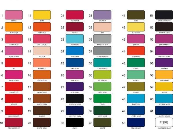 boyama tüm renkler