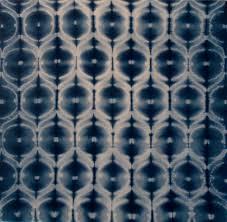 shibori tekniği ile boyanmış kumaşlar
