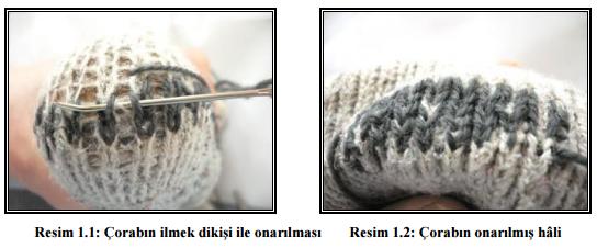 corabin ilmek ile onarilmasi