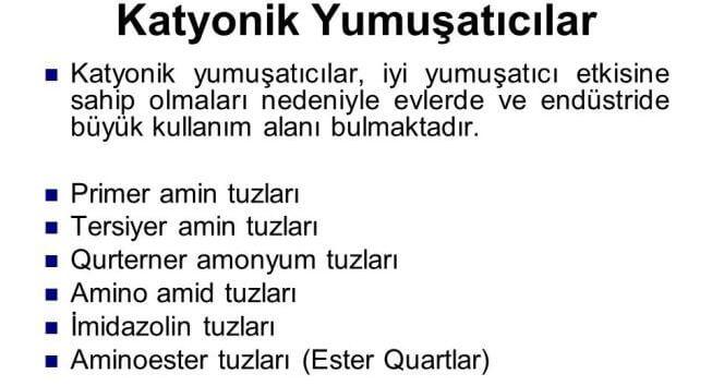 Katyonik yumusaticilar